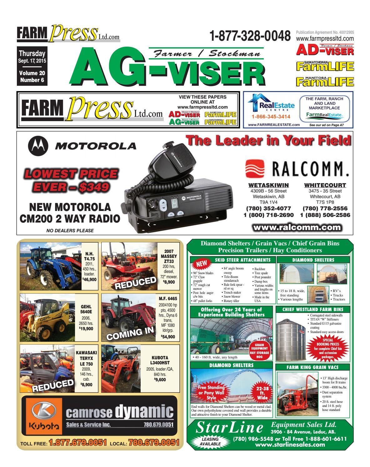 Northern Alberta Agvisor September 17 2015 By Black Press Issuu Stiga Comfort 16 2010 Parts Diagram Engine Briggs Stratton