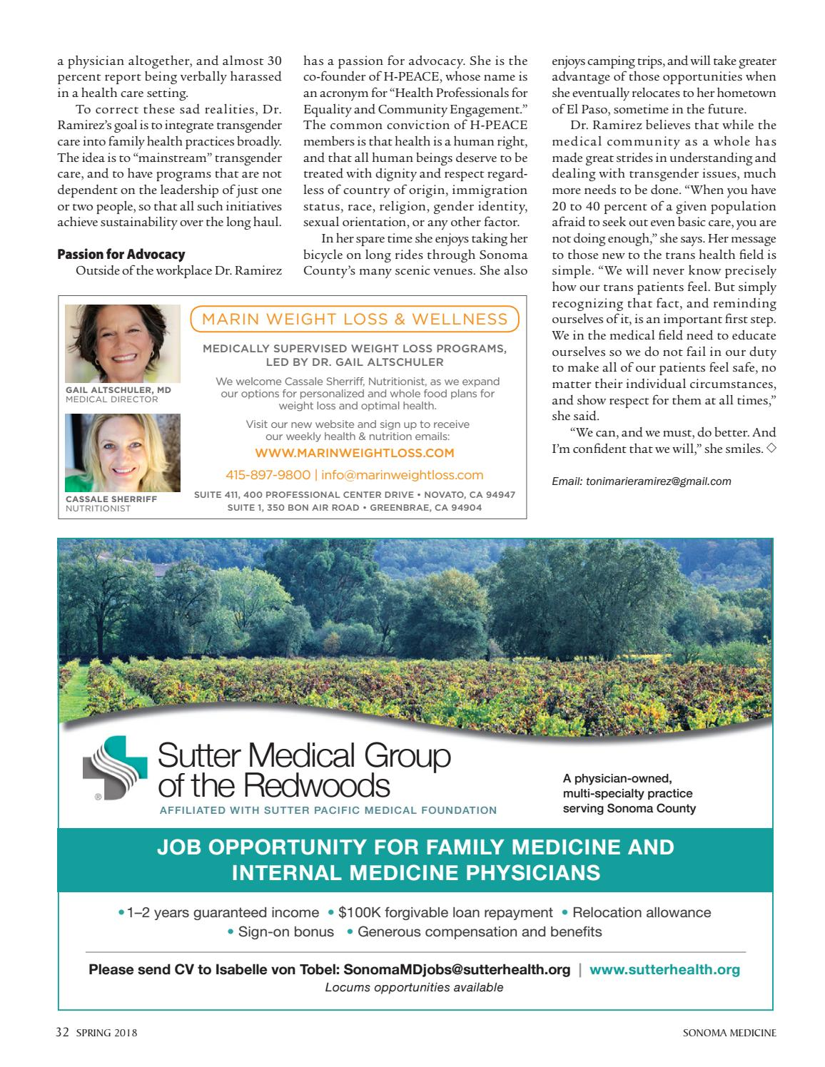 Sonoma Medicine Spring 2018 By Sonoma County Medical Association Issuu