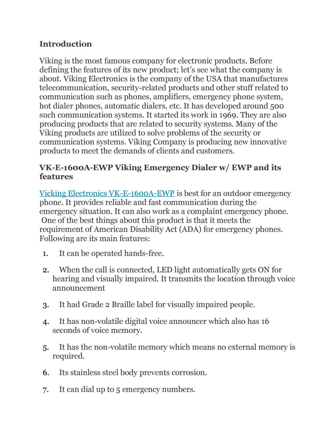 Vicking electronics vk e 1600a ewp by Go Headsets - issuu