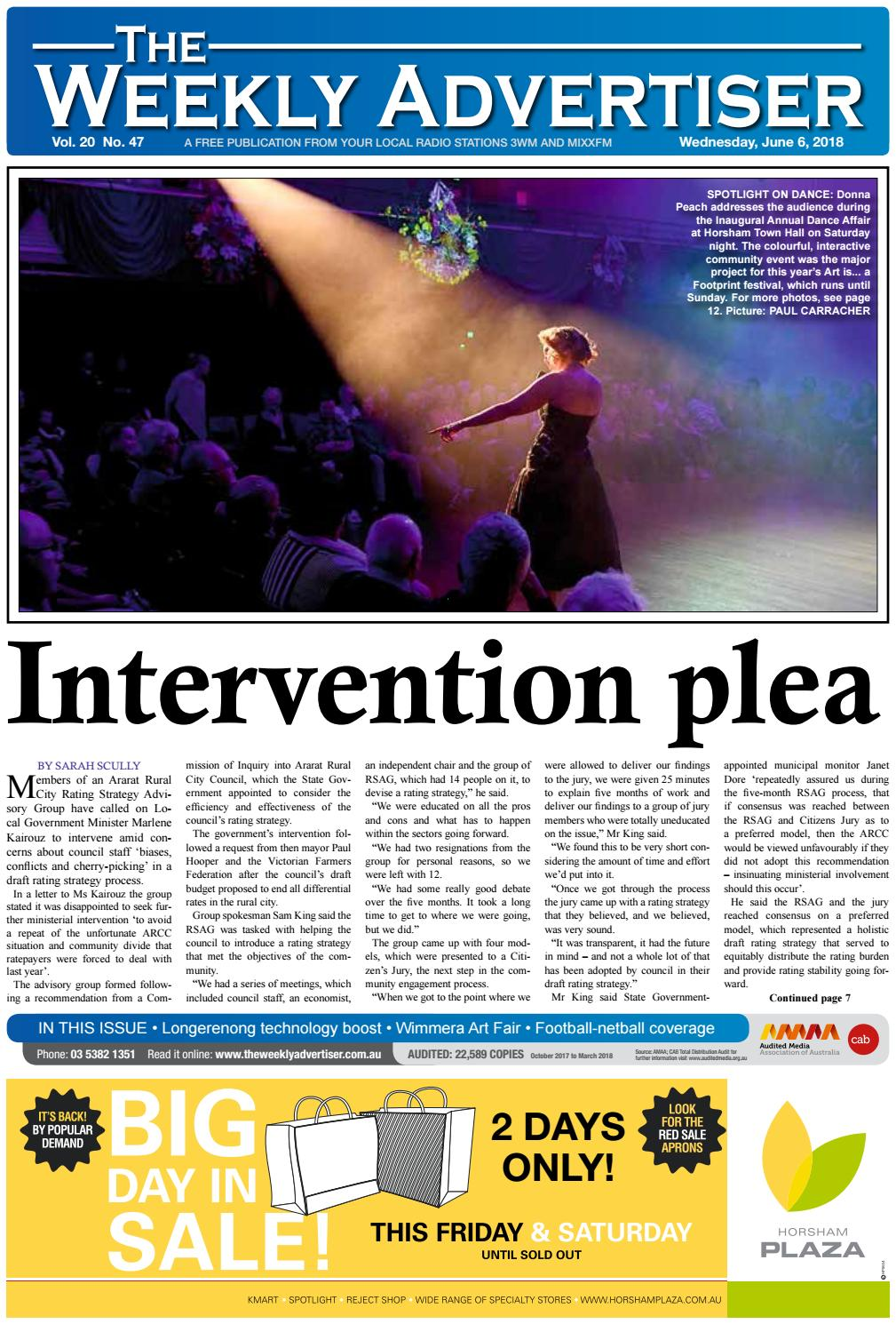 The Weekly Advertiser - Wednesday, June 6, 2018 by The