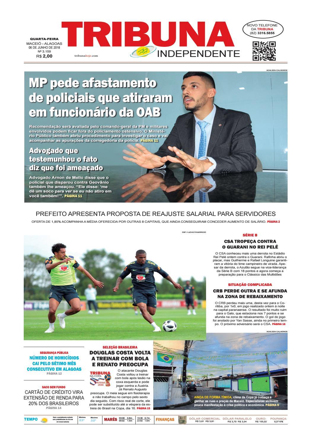 dbc51bff29 Edição número 3159 - 6 de junho de 2018 by Tribuna Hoje - issuu