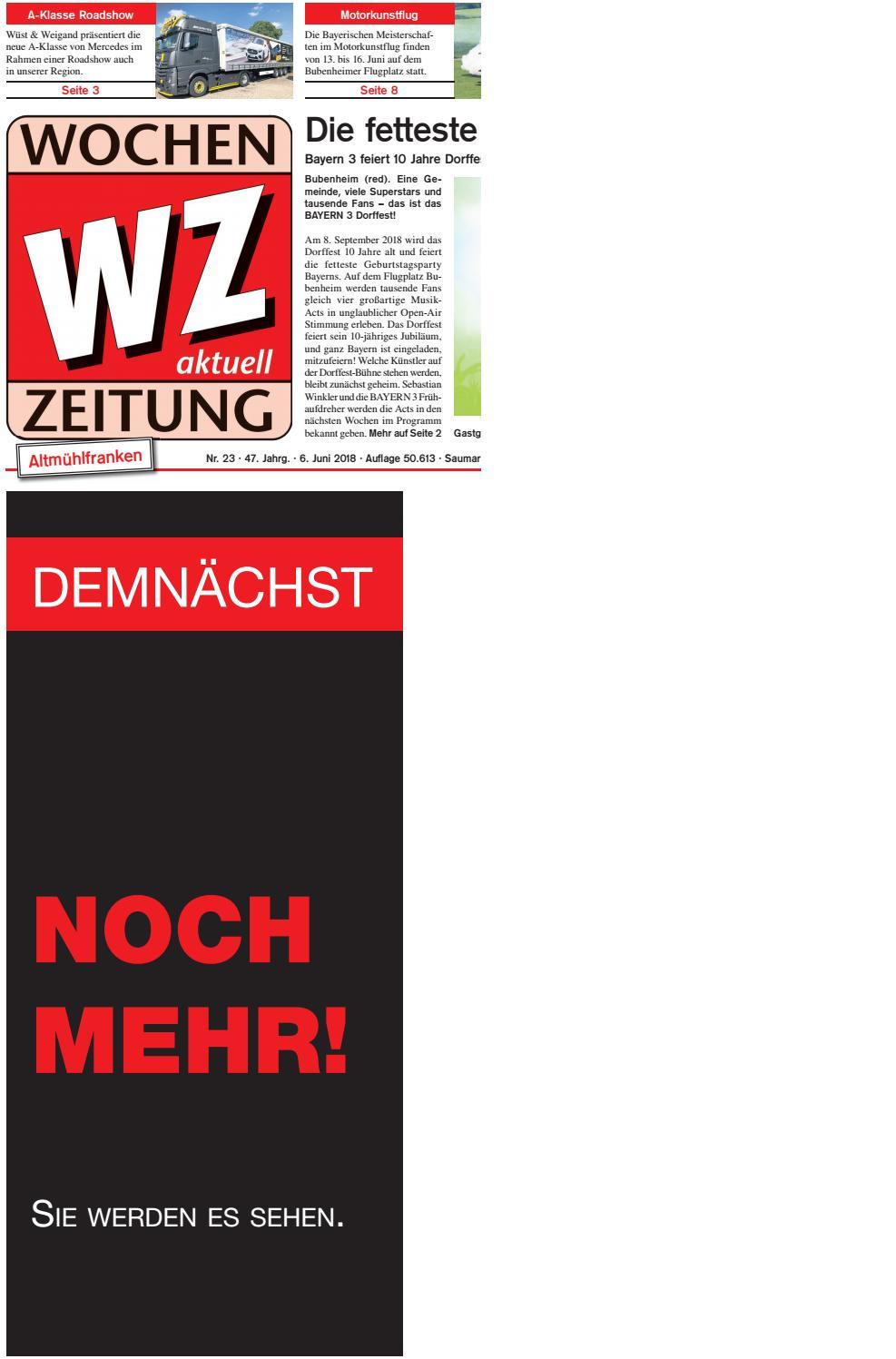 WochenZeitung Weißenburg KW 23.18 by WochenZeitung / SonntagsZeitung - issuu