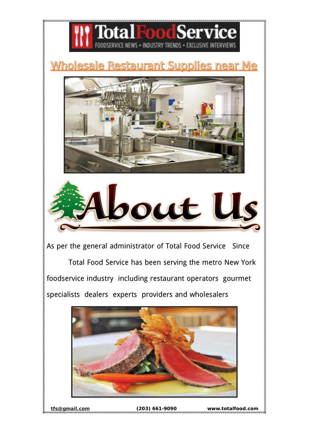Wholesale Restaurant Supplies near Me - Total Food Service