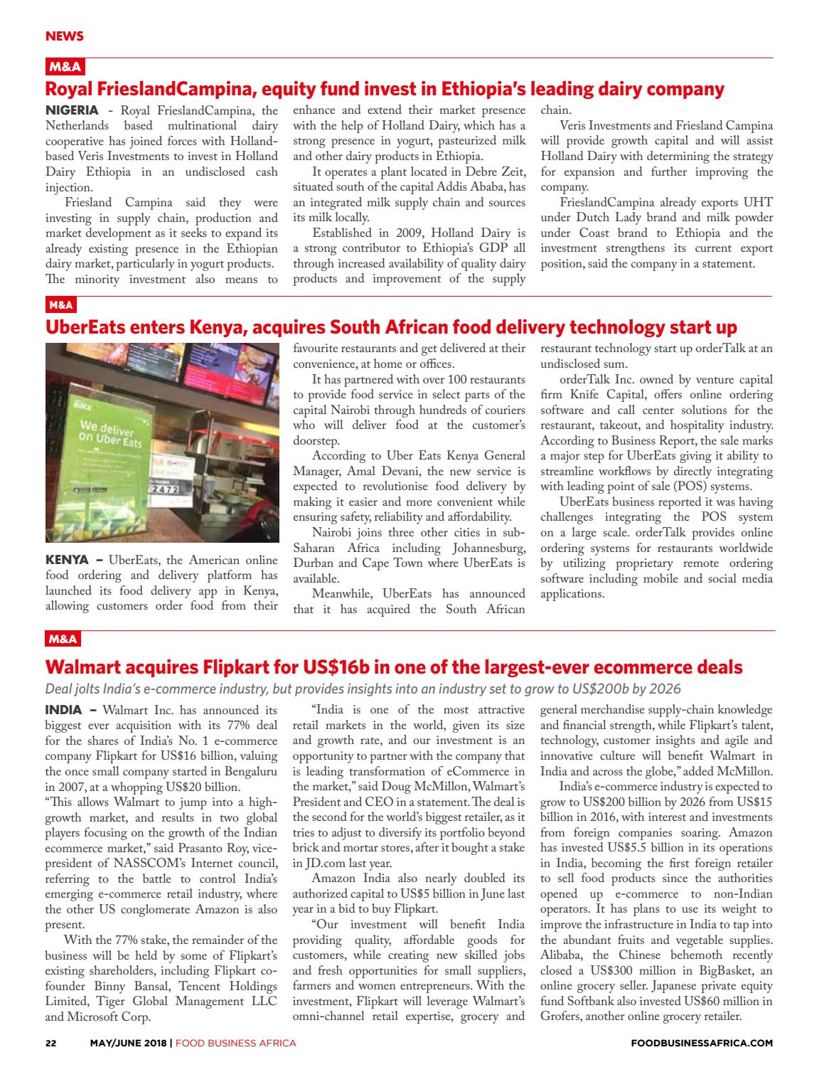 Food Business Africa May/June 2018 by FoodWorld Media - issuu