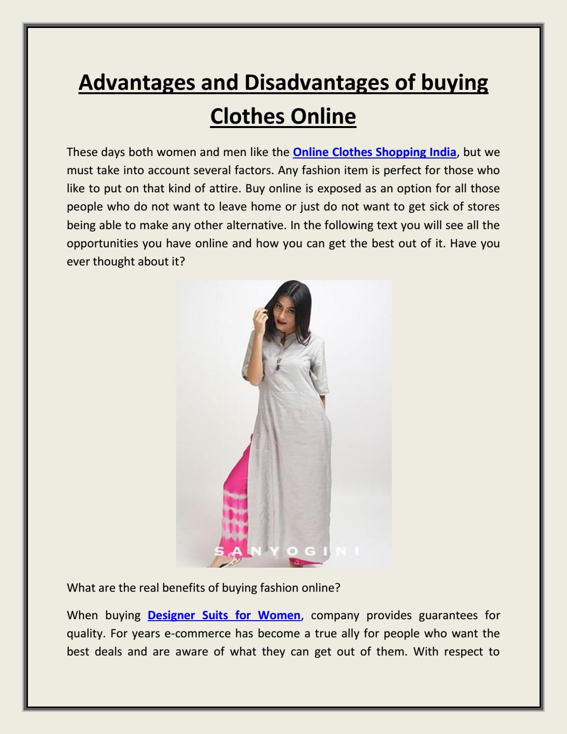 Advantages And Disadvantages Of Buying Clothes Online By Fittonn Online Shopping Issuu