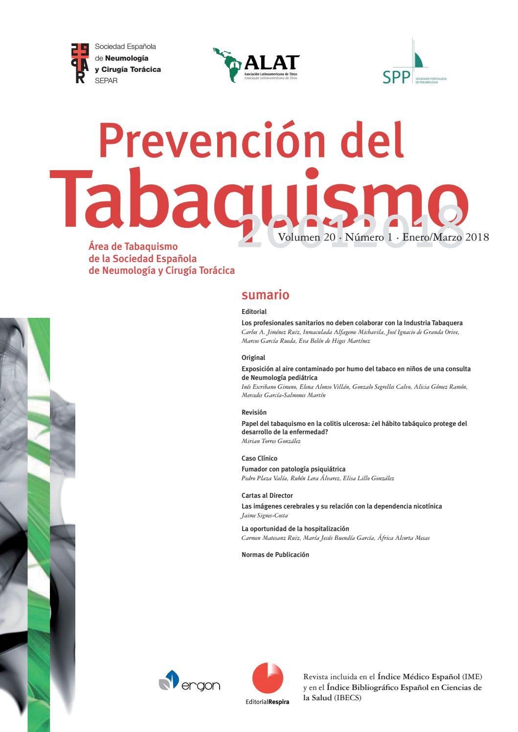 Revista Prevención del tabaquismo enero-marzo 2018 by SEPAR - issuu