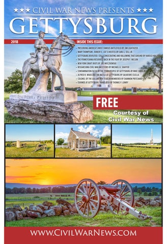 Civil war news 24th annual gettysburg section 2018 issuu by civil page 1 fandeluxe Images