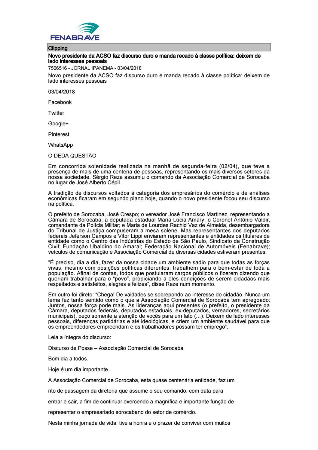 ecb7b80ed35 Clipping Fenabrave 03.04.2018 by MCE Comunicação - issuu