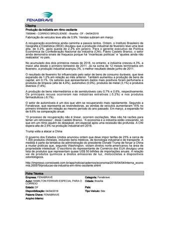 Clipping Fenabrave 04.04.2018 by MCE Comunicação - issuu f21ae90fe239b