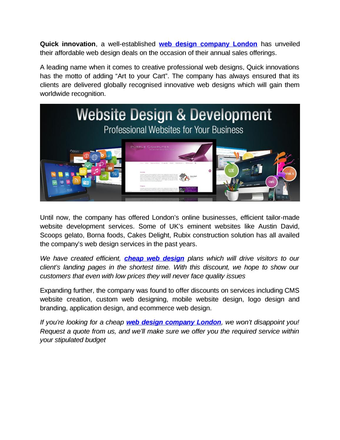 Web Design Company London By Quickinnovations Issuu