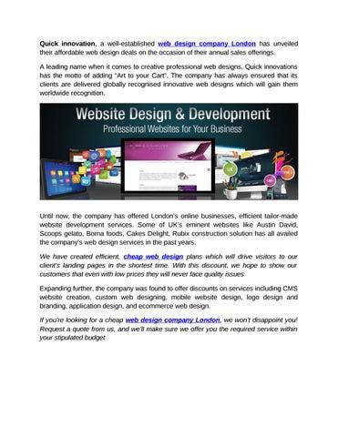 Web Design Company London By Quickinnovations Issuu