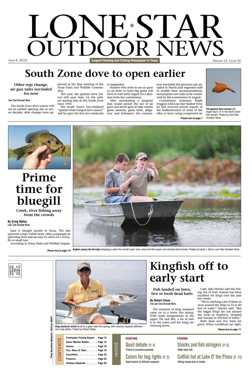 June 8, 2018 - Lone Star Outdoor News - Fishing & Hunting by