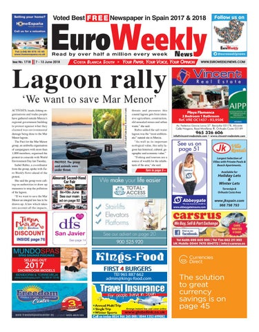 Euro Weekly News Costa Blanca South 7 13 June 2018 Issue 1718 By