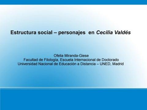 Estructura Social En Cecilia Valdés Personajes By Ofelia