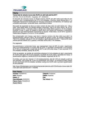 c35ce46a1 Clipping Fenabrave 03.05.2018 by MCE Comunicação - issuu