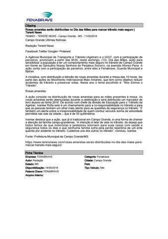8d946e1e2 Clipping Fenabrave 14.05.2018 by MCE Comunicação - issuu