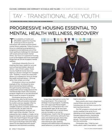 Page 6 of TAY (Transitional Age Youth) - Progressive Housing Essential to Mental Health Wellness, Recovery
