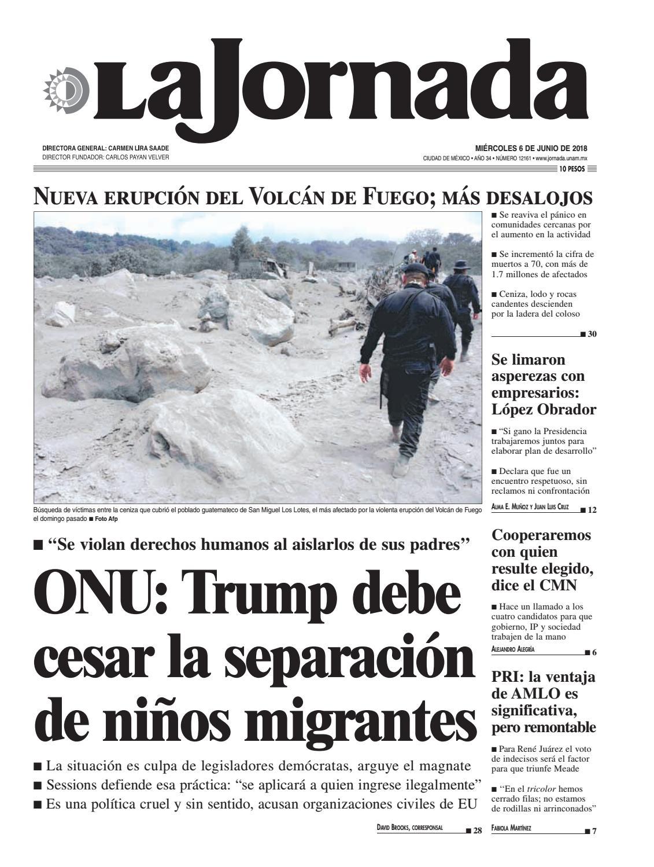 cc5172164 La Jornada, 06/06/2018 by La Jornada - issuu