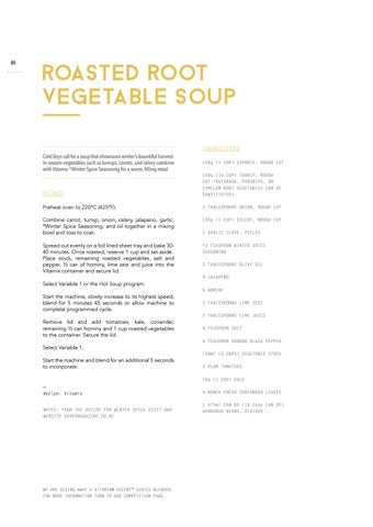 Page 82 of Roasted Root Vegetable Soup