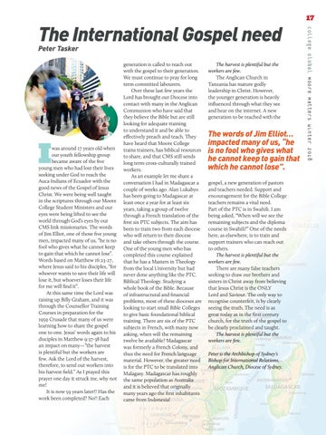 Page 17 of The International Gospel need