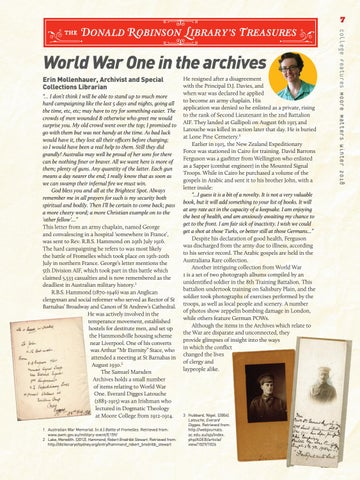 Page 7 of World War One in the archives