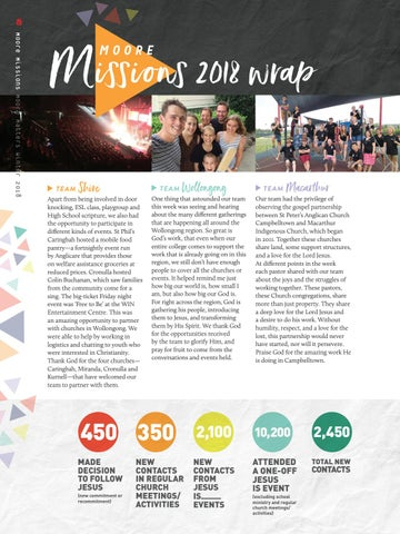Page 8 of Moore Missions 2018 wrap