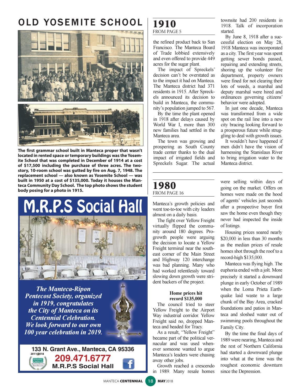 Manteca Centennial 2018 By Manteca Bulletin Issuu