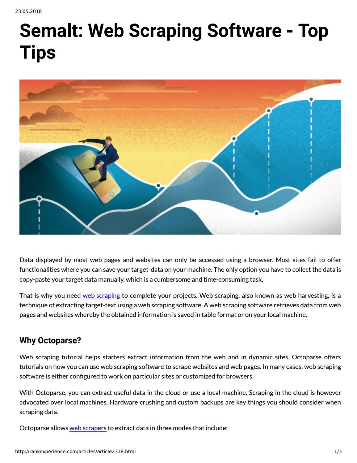 Semalt: Web Scraping Software - Top Tip by semaltcompany - issuu