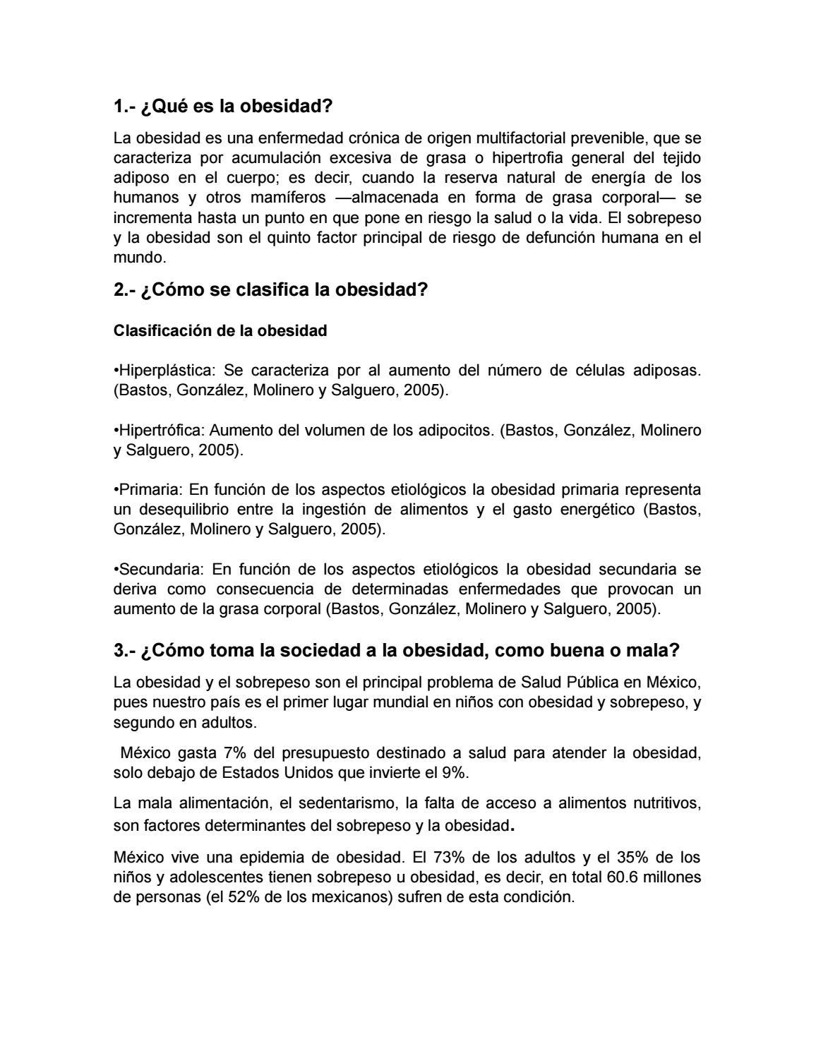 factores determinantes de la obesidad en mexico