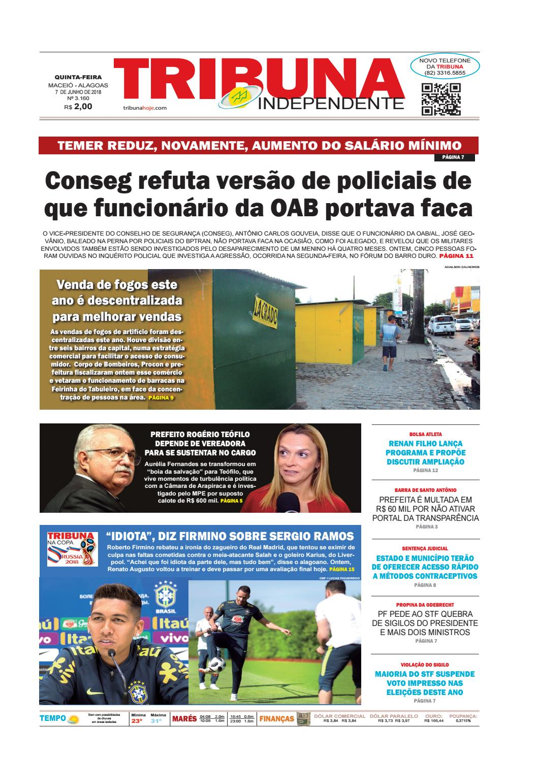 Edição número 3160 – 7 de junho de 2018 by Tribuna Hoje - issuu 7d18f0521f0b8