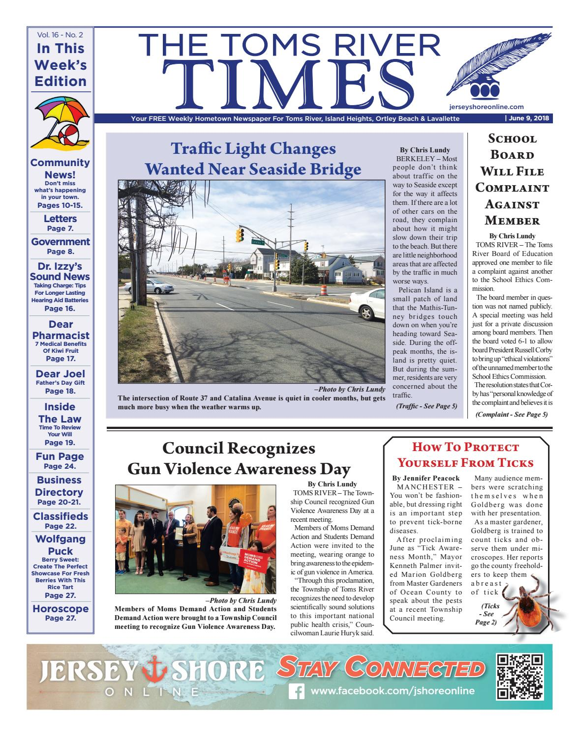 d3289eb36 2018-06-09 - The Toms River Times by Micromedia Publications/Jersey Shore  Online - issuu