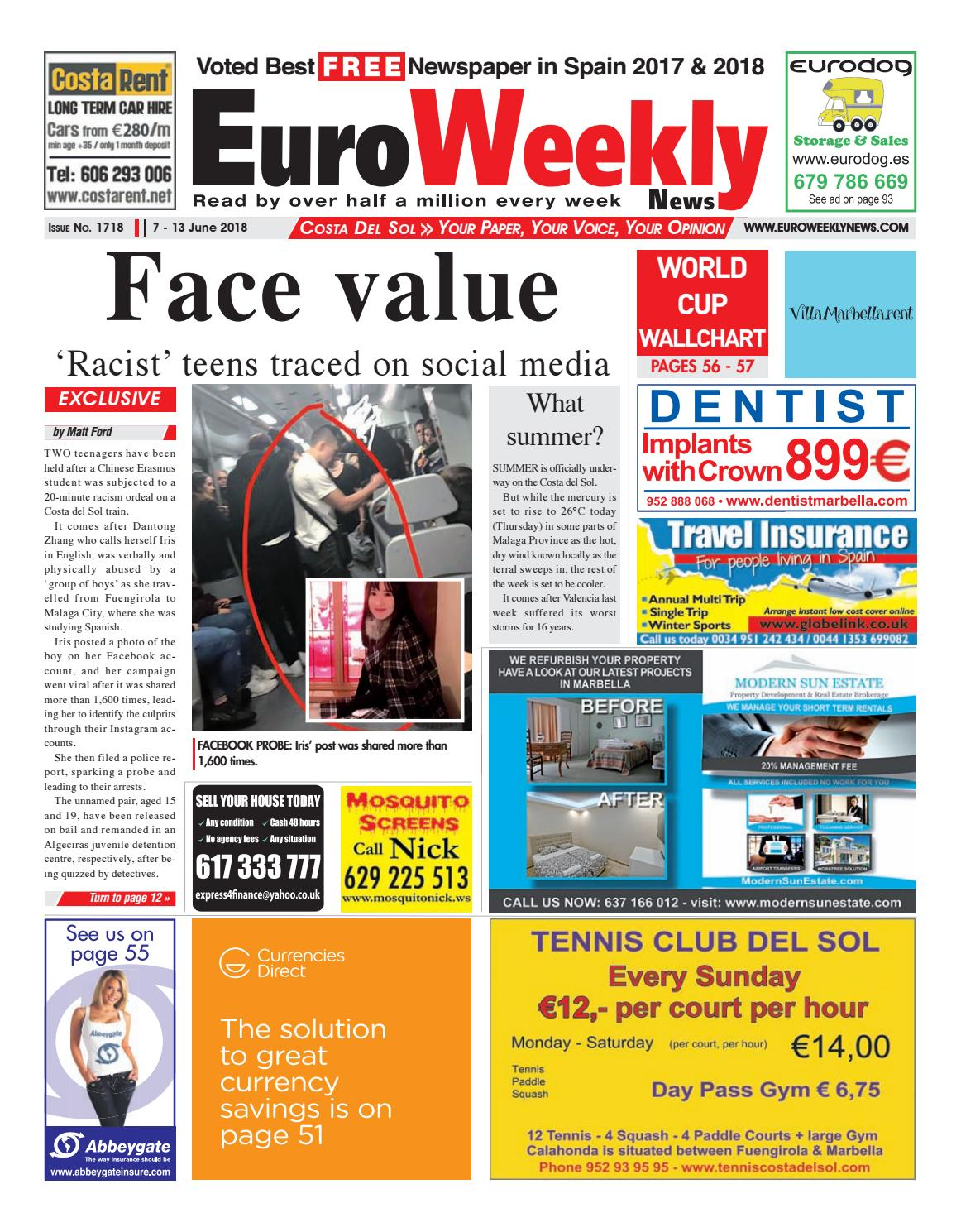 6a7272dcea38 Euro Weekly News - Costa del Sol 7 - 13 June 2018 Issue 1718 by Euro Weekly  News Media S.A. - issuu