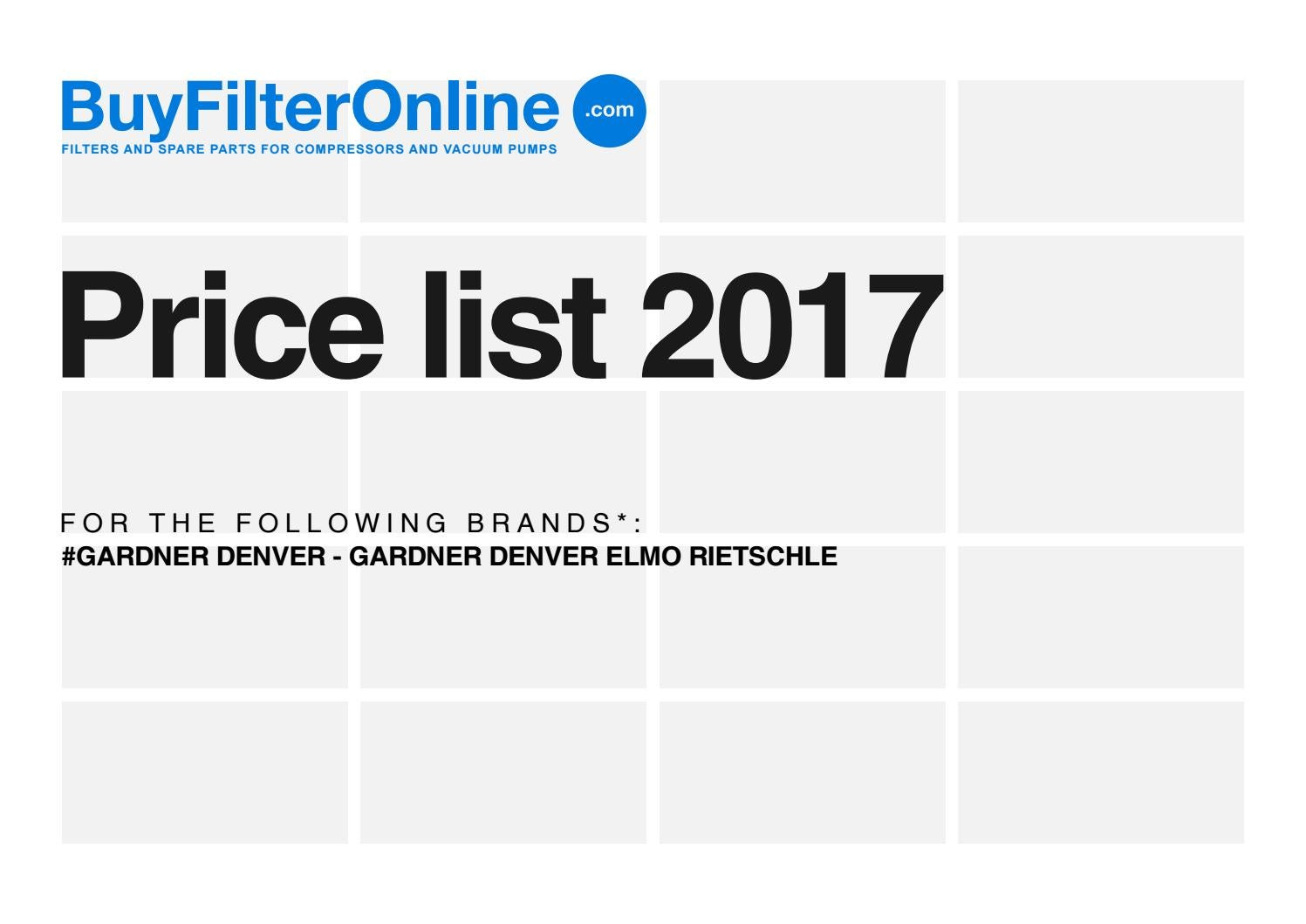 Buyfilteronlinecom Filters For Compressors Price List 2017 Circuit Breaker 12v Dc Solenoid And Tripping Coil Buy Coil24v Gardner Denver Elmo Rietschle By Oilservice Issuu
