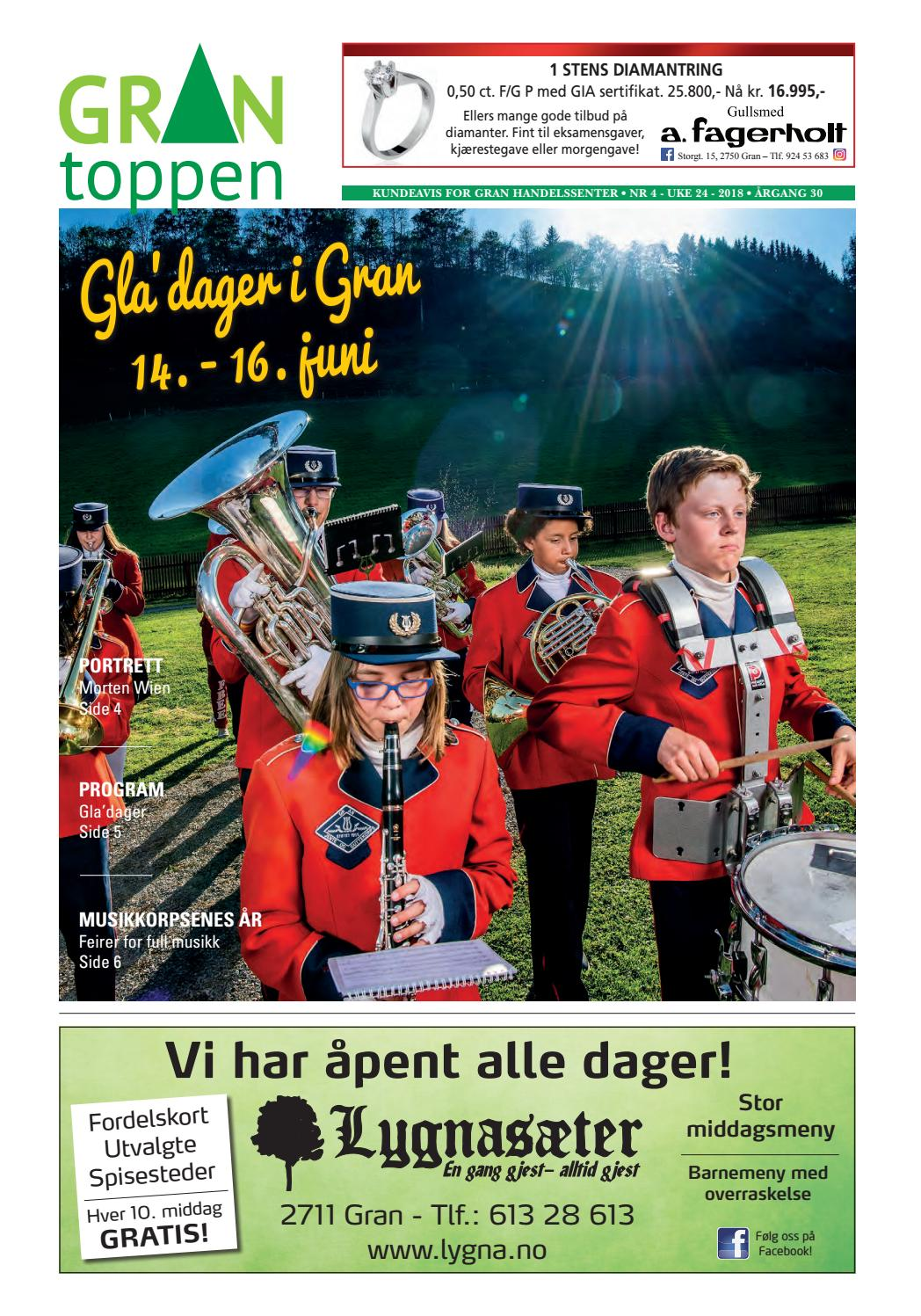 208a9e6b Grantoppen nr 4, Gladager 2018 by Gran Handelssenter - issuu