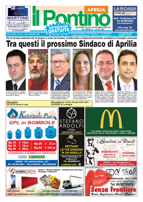 f713906e56 Il Pontino Aprilia - Anno XXIX - N. 11 - 7/22 Giugno 2018 by Il Pontino/Il  Litorale - issuu