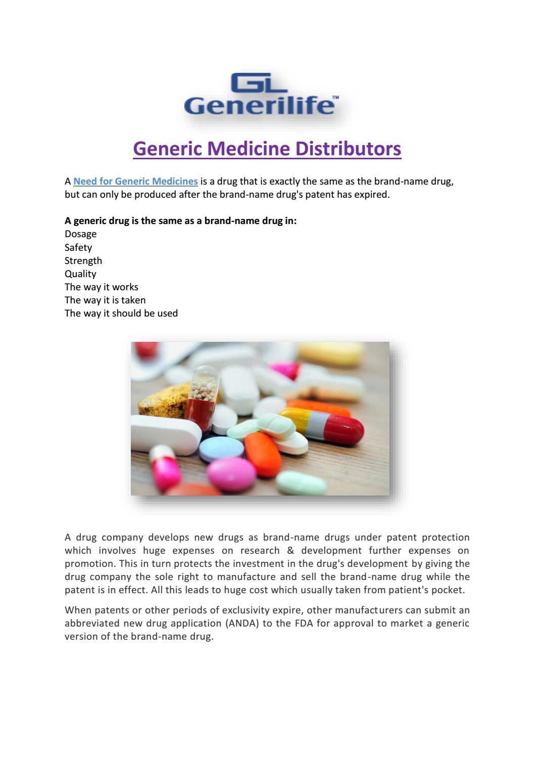 Generic medicine distributors by Generic Medicine - issuu