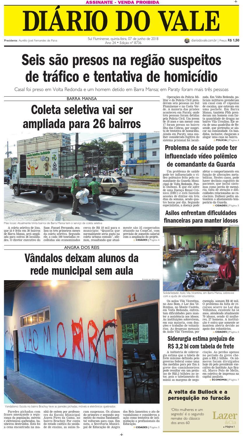 8736 diario quinta feira 07 06 2018 by Diário do Vale - issuu 1e95dcbb64