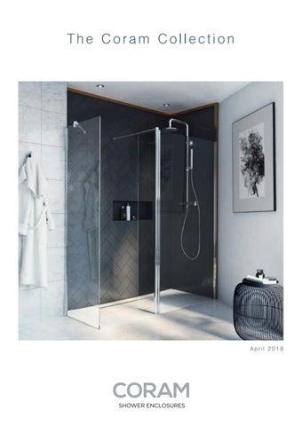 Coram Bathroom Sail Over Bath Shower Screen 800mm 5mm Safety Glass SFS80CUC