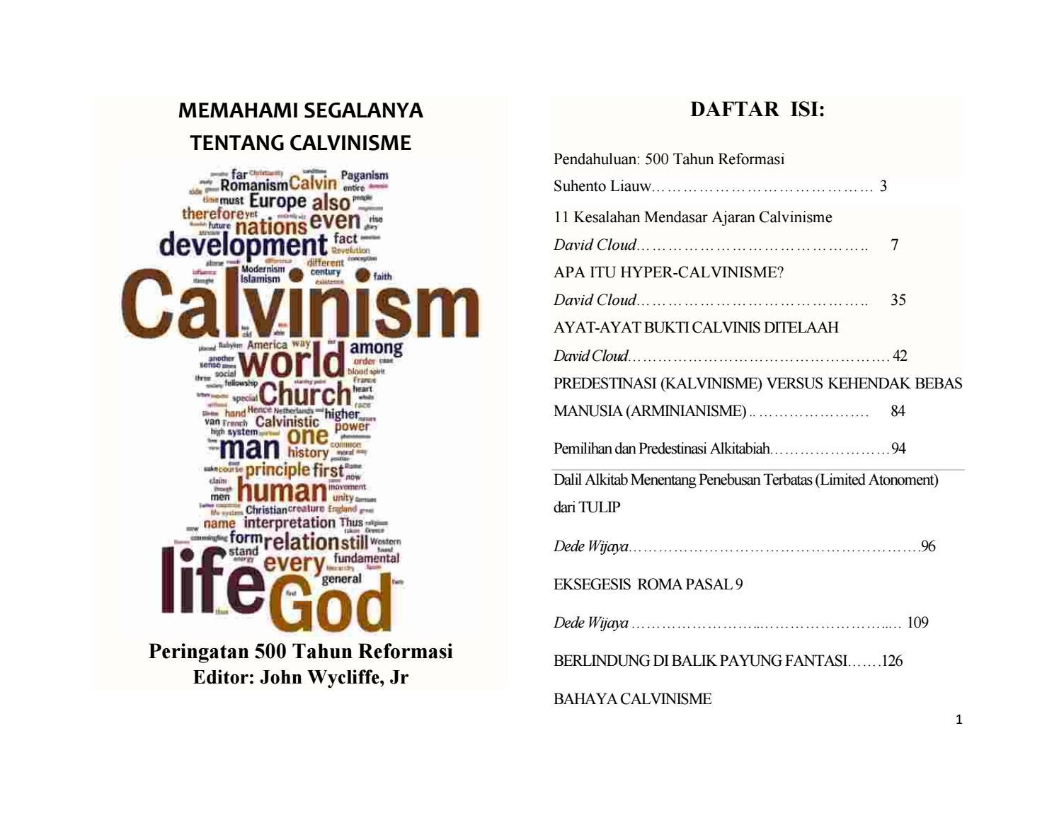 Memahami Segalanya Tentang Calvinisme By Dede Wijaya Issuu