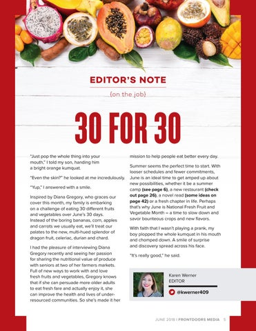 Page 5 of Editor's Note: 30 For 30