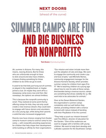 Page 6 of Summer Camps are Fun And Big Business for Nonprofits