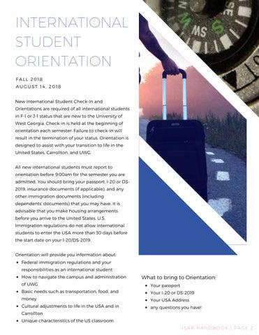 Page 3 of International Student Orientation