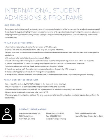 Page 6 of Admissions to UWG