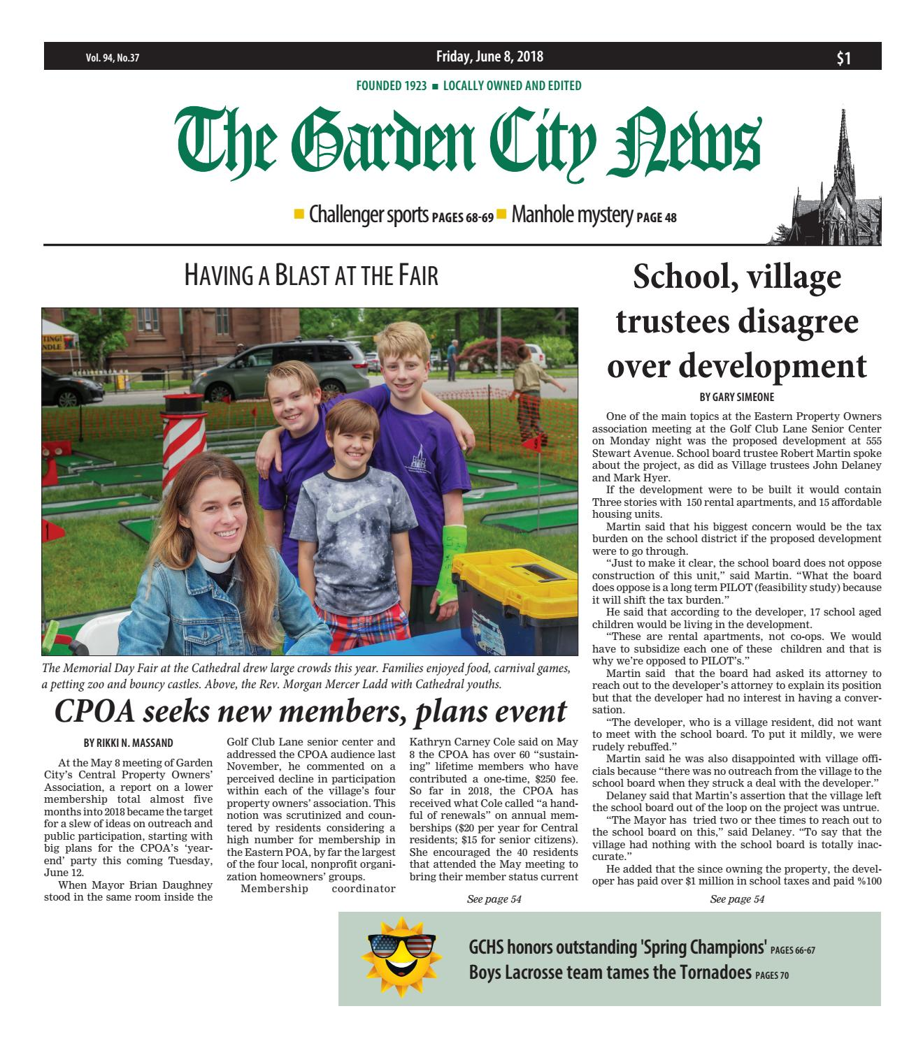 The Garden City News (6/8/18) by Litmor Publishing - issuu