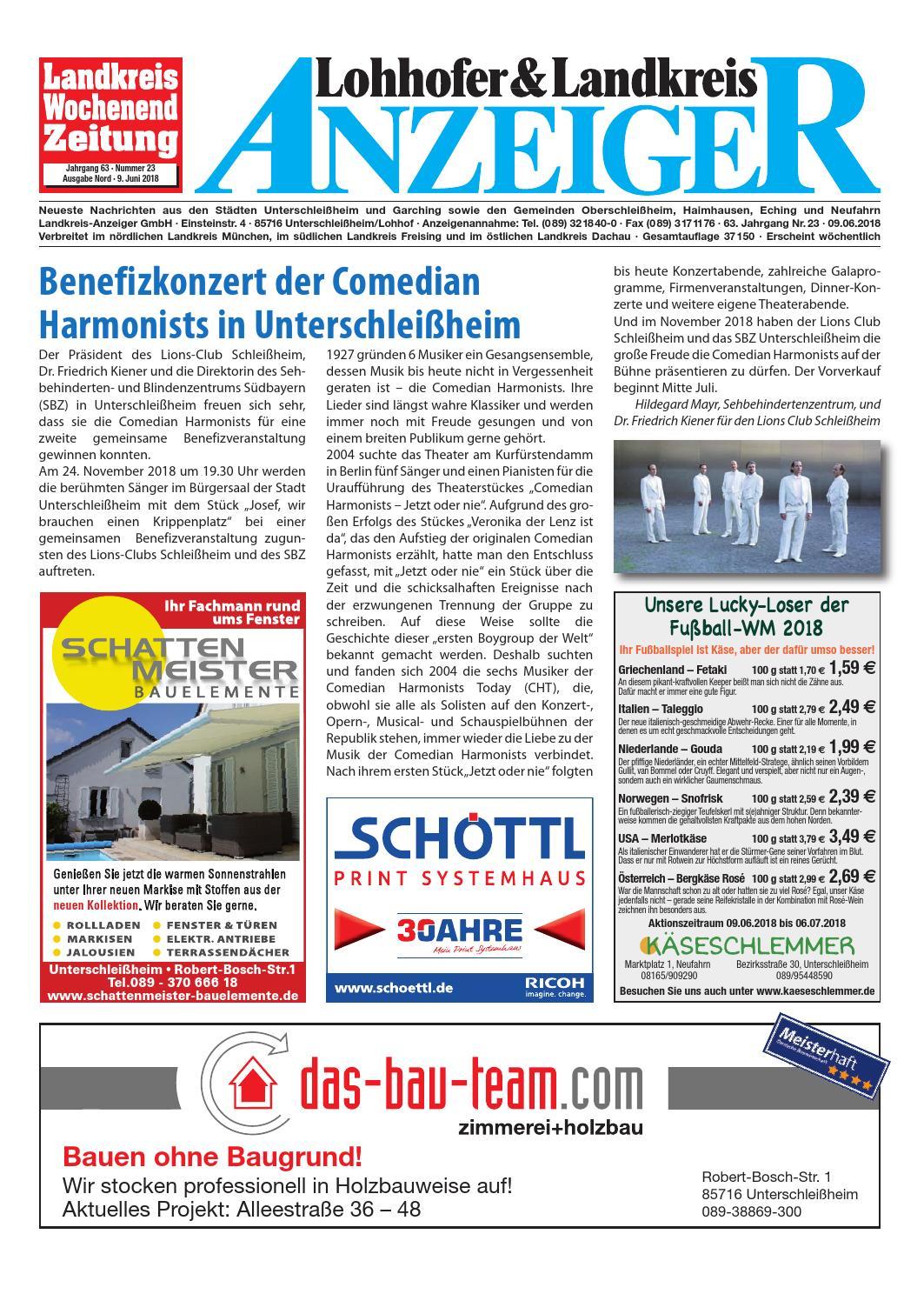 Lohhofer & Landkreis Anzeiger 2318 by Zimmermann GmbH Druck & Verlag - issuu