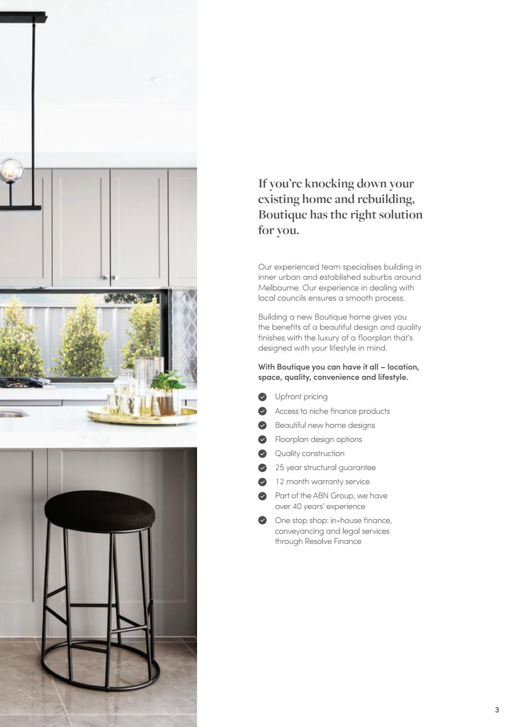Boutique Homes Knockdown Rebuild Guide by Boutique Homes - issuu