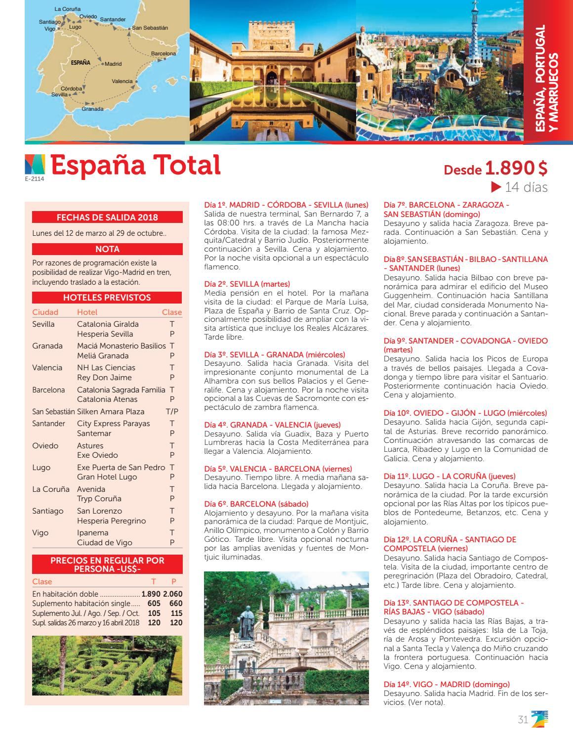 Trapsatur España Portugal Y Marruecos 2018 2019 By Catalogos