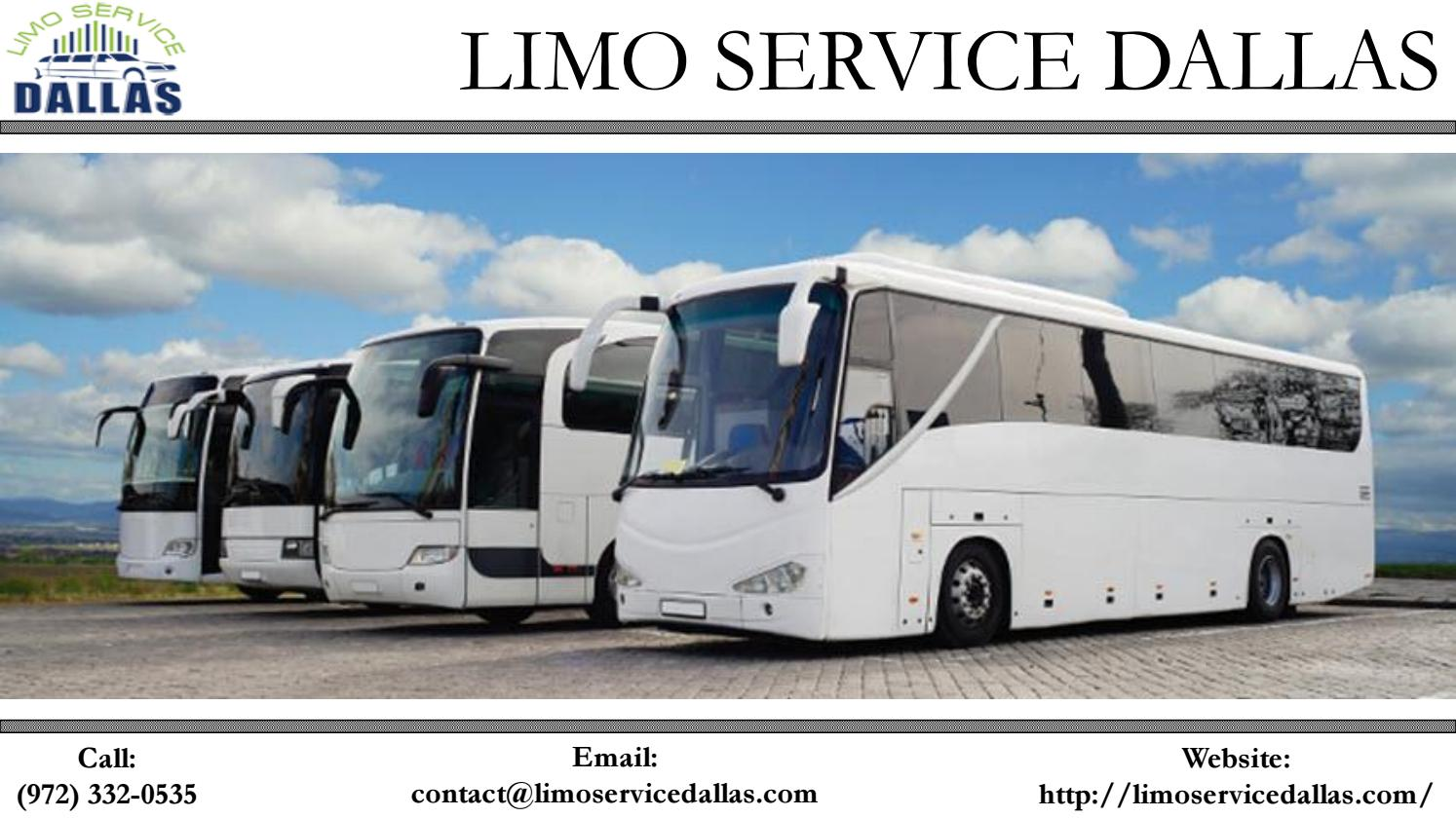 5 Reasons To Choose A Charter Bus Rental Dallas For Your Holiday Trip By Limoservicedallas66 Issuu