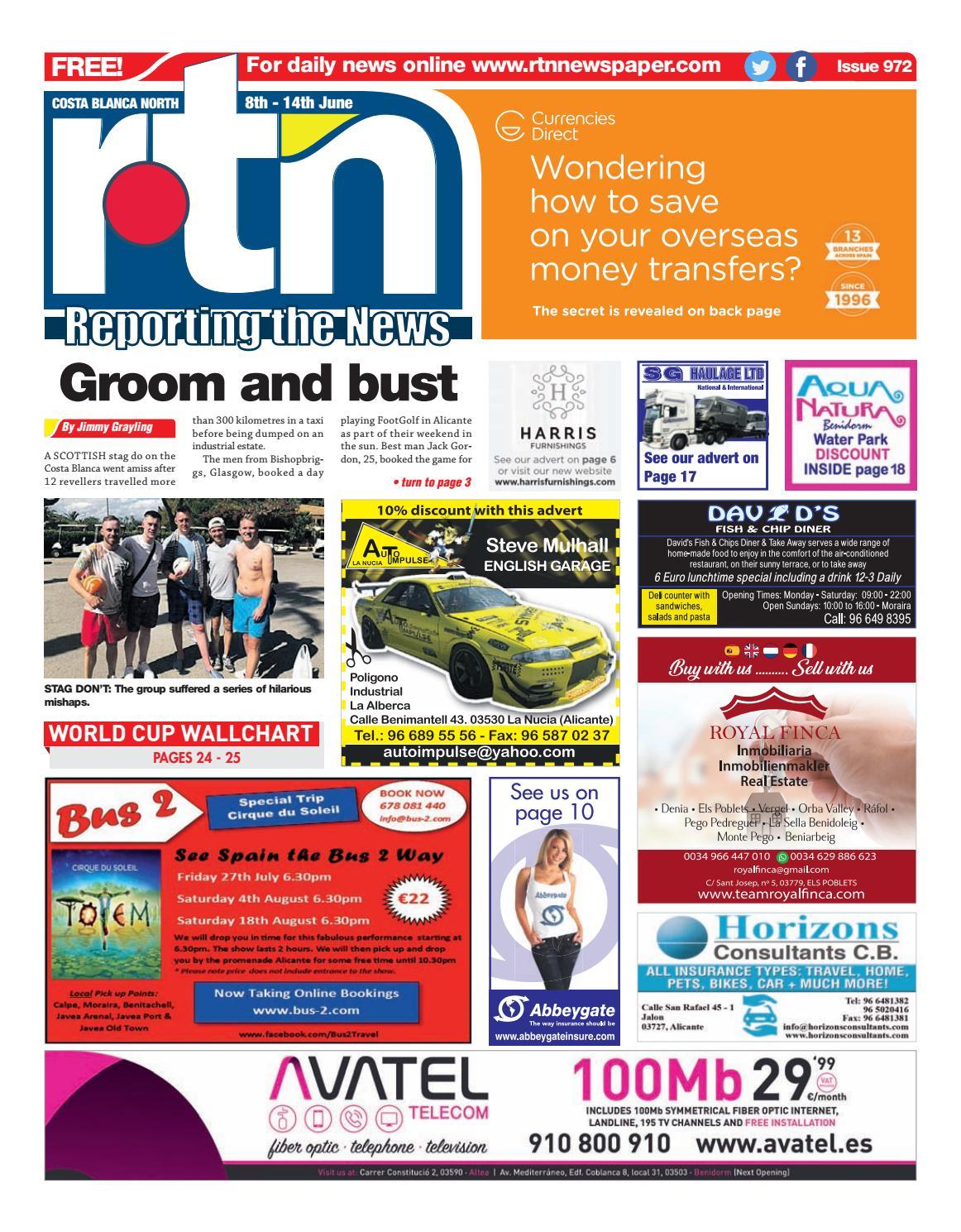 RTN Newspaper - Costa Blanca North 8 - 14 June 2018 Issue