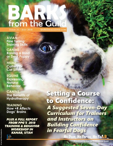 Barks From The Guild July 2018 By The Pet Professional Guild Issuu